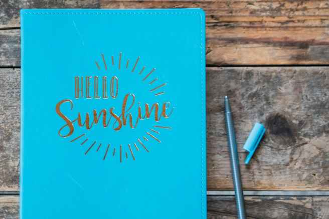 close up photo of hello sunshine book